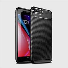 Silikon Hülle Handyhülle Gummi Schutzhülle Tasche Köper S01 für Apple iPhone 8 Plus Schwarz