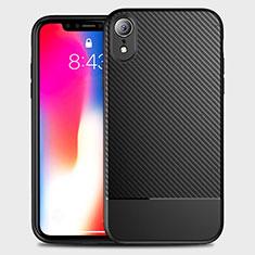 Silikon Hülle Handyhülle Gummi Schutzhülle Tasche Köper S01 für Apple iPhone XR Schwarz