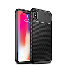 Silikon Hülle Handyhülle Gummi Schutzhülle Tasche Köper S01 für Apple iPhone Xs Schwarz