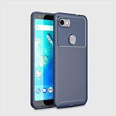 Silikon Hülle Handyhülle Gummi Schutzhülle Tasche Köper S01 für Google Pixel 3 Blau