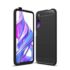 Silikon Hülle Handyhülle Gummi Schutzhülle Tasche Köper S01 für Huawei Honor 9X Pro Schwarz