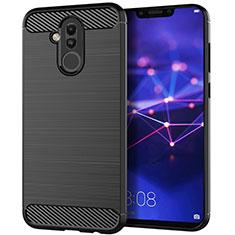 Silikon Hülle Handyhülle Gummi Schutzhülle Tasche Köper S01 für Huawei Mate 20 Lite Schwarz