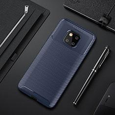 Silikon Hülle Handyhülle Gummi Schutzhülle Tasche Köper S01 für Huawei Mate 20 Pro Blau