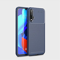 Silikon Hülle Handyhülle Gummi Schutzhülle Tasche Köper S01 für Huawei Nova 5 Blau