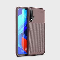 Silikon Hülle Handyhülle Gummi Schutzhülle Tasche Köper S01 für Huawei Nova 5 Braun