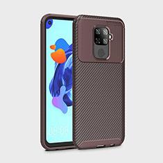 Silikon Hülle Handyhülle Gummi Schutzhülle Tasche Köper S01 für Huawei Nova 5z Braun