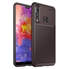 Silikon Hülle Handyhülle Gummi Schutzhülle Tasche Köper S01 für Huawei P30 Lite Braun