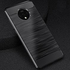 Silikon Hülle Handyhülle Gummi Schutzhülle Tasche Köper S01 für OnePlus 7T Schwarz