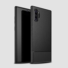 Silikon Hülle Handyhülle Gummi Schutzhülle Tasche Köper S01 für Samsung Galaxy Note 10 Plus Schwarz