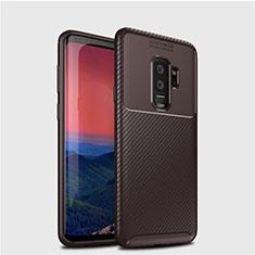 Silikon Hülle Handyhülle Gummi Schutzhülle Tasche Köper S01 für Samsung Galaxy S9 Plus Braun