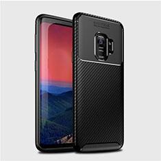 Silikon Hülle Handyhülle Gummi Schutzhülle Tasche Köper S01 für Samsung Galaxy S9 Schwarz