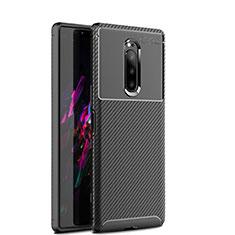 Silikon Hülle Handyhülle Gummi Schutzhülle Tasche Köper S01 für Sony Xperia 1 Schwarz