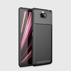 Silikon Hülle Handyhülle Gummi Schutzhülle Tasche Köper S01 für Sony Xperia 10 Plus Schwarz