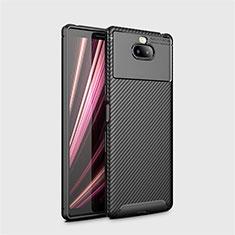 Silikon Hülle Handyhülle Gummi Schutzhülle Tasche Köper S01 für Sony Xperia 10 Schwarz