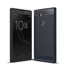 Silikon Hülle Handyhülle Gummi Schutzhülle Tasche Köper S01 für Sony Xperia L2 Blau