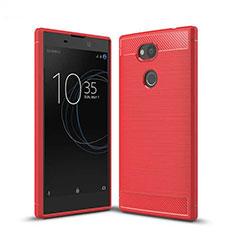 Silikon Hülle Handyhülle Gummi Schutzhülle Tasche Köper S01 für Sony Xperia L2 Rot