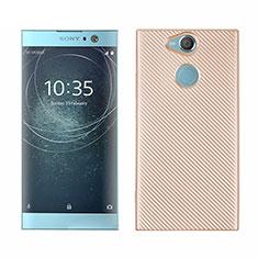 Silikon Hülle Handyhülle Gummi Schutzhülle Tasche Köper S01 für Sony Xperia XA2 Plus Gold