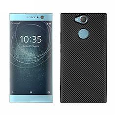 Silikon Hülle Handyhülle Gummi Schutzhülle Tasche Köper S01 für Sony Xperia XA2 Schwarz