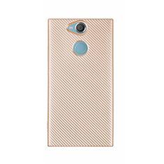 Silikon Hülle Handyhülle Gummi Schutzhülle Tasche Köper S01 für Sony Xperia XA2 Ultra Gold