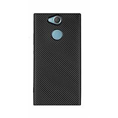 Silikon Hülle Handyhülle Gummi Schutzhülle Tasche Köper S01 für Sony Xperia XA2 Ultra Schwarz