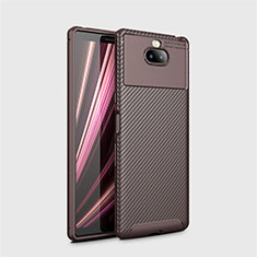 Silikon Hülle Handyhülle Gummi Schutzhülle Tasche Köper S01 für Sony Xperia XA3 Ultra Braun