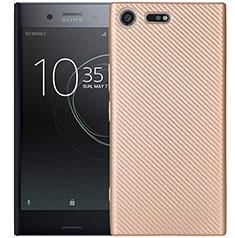 Silikon Hülle Handyhülle Gummi Schutzhülle Tasche Köper S01 für Sony Xperia XZ1 Compact Gold