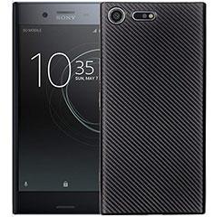 Silikon Hülle Handyhülle Gummi Schutzhülle Tasche Köper S01 für Sony Xperia XZ1 Compact Schwarz