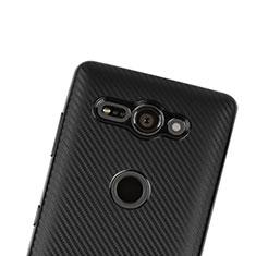 Silikon Hülle Handyhülle Gummi Schutzhülle Tasche Köper S01 für Sony Xperia XZ2 Compact Schwarz