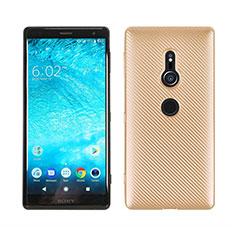 Silikon Hülle Handyhülle Gummi Schutzhülle Tasche Köper S01 für Sony Xperia XZ2 Gold