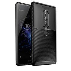 Silikon Hülle Handyhülle Gummi Schutzhülle Tasche Köper S01 für Sony Xperia XZ2 Premium Schwarz