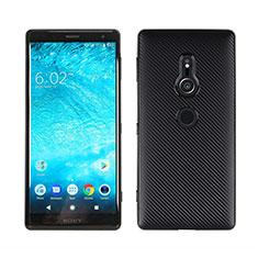 Silikon Hülle Handyhülle Gummi Schutzhülle Tasche Köper S01 für Sony Xperia XZ2 Schwarz