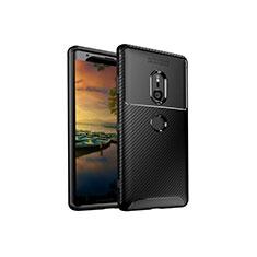 Silikon Hülle Handyhülle Gummi Schutzhülle Tasche Köper S01 für Sony Xperia XZ3 Schwarz