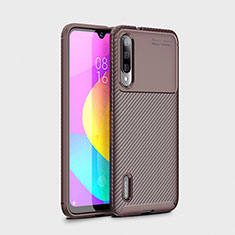 Silikon Hülle Handyhülle Gummi Schutzhülle Tasche Köper S01 für Xiaomi Mi A3 Braun