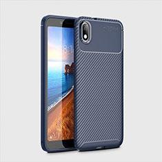Silikon Hülle Handyhülle Gummi Schutzhülle Tasche Köper S01 für Xiaomi Redmi 7A Blau