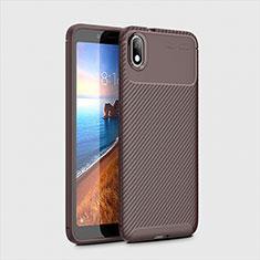 Silikon Hülle Handyhülle Gummi Schutzhülle Tasche Köper S01 für Xiaomi Redmi 7A Braun
