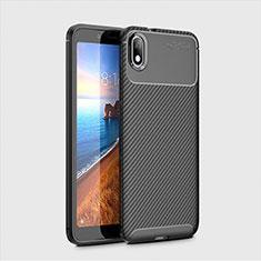 Silikon Hülle Handyhülle Gummi Schutzhülle Tasche Köper S01 für Xiaomi Redmi 7A Schwarz