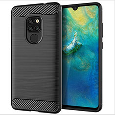 Silikon Hülle Handyhülle Gummi Schutzhülle Tasche Köper S02 für Huawei Mate 20 Schwarz