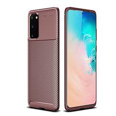 Silikon Hülle Handyhülle Gummi Schutzhülle Tasche Köper S02 für Samsung Galaxy S20 5G Braun