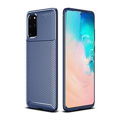 Silikon Hülle Handyhülle Gummi Schutzhülle Tasche Köper S02 für Samsung Galaxy S20 Plus 5G Blau