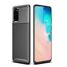Silikon Hülle Handyhülle Gummi Schutzhülle Tasche Köper S02 für Samsung Galaxy S20 Plus 5G Schwarz