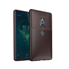 Silikon Hülle Handyhülle Gummi Schutzhülle Tasche Köper S02 für Sony Xperia XZ2 Braun
