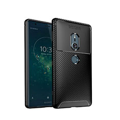 Silikon Hülle Handyhülle Gummi Schutzhülle Tasche Köper S02 für Sony Xperia XZ2 Schwarz