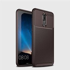 Silikon Hülle Handyhülle Gummi Schutzhülle Tasche Köper S03 für Huawei Mate 10 Lite Braun