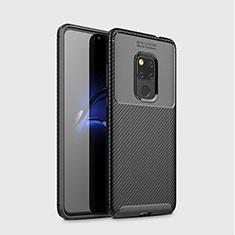 Silikon Hülle Handyhülle Gummi Schutzhülle Tasche Köper S03 für Huawei Mate 20 Schwarz