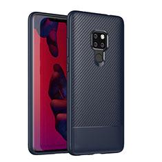 Silikon Hülle Handyhülle Gummi Schutzhülle Tasche Köper S04 für Huawei Mate 20 Blau