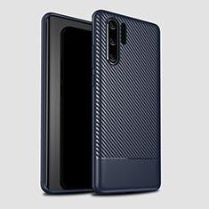 Silikon Hülle Handyhülle Gummi Schutzhülle Tasche Köper S04 für Huawei P30 Pro Blau