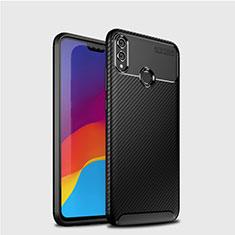 Silikon Hülle Handyhülle Gummi Schutzhülle Tasche Köper T01 für Huawei Honor 8X Schwarz