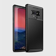 Silikon Hülle Handyhülle Gummi Schutzhülle Tasche Köper T01 für Samsung Galaxy Note 9 Schwarz