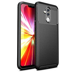 Silikon Hülle Handyhülle Gummi Schutzhülle Tasche Köper T02 für Huawei Mate 20 Lite Schwarz