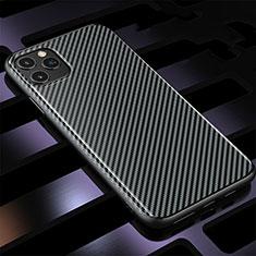 Silikon Hülle Handyhülle Gummi Schutzhülle Tasche Köper Y01 für Apple iPhone 11 Pro Max Schwarz
